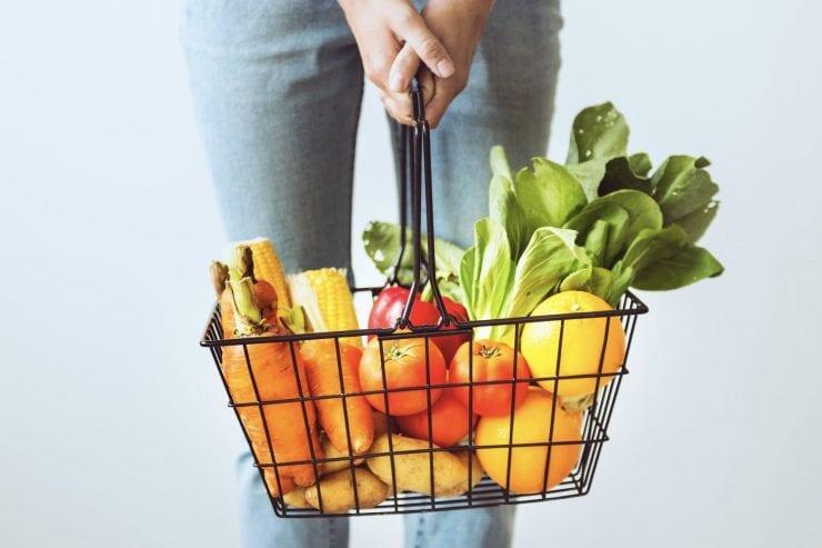vegetable grocery basket