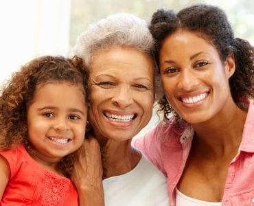 Three Generations Smiling