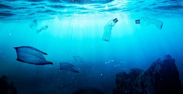 ocean with pollution