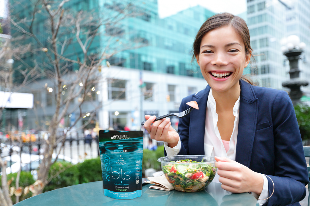 Spirulina can help curb hunger, and keep you energized and focused throughout the work day.