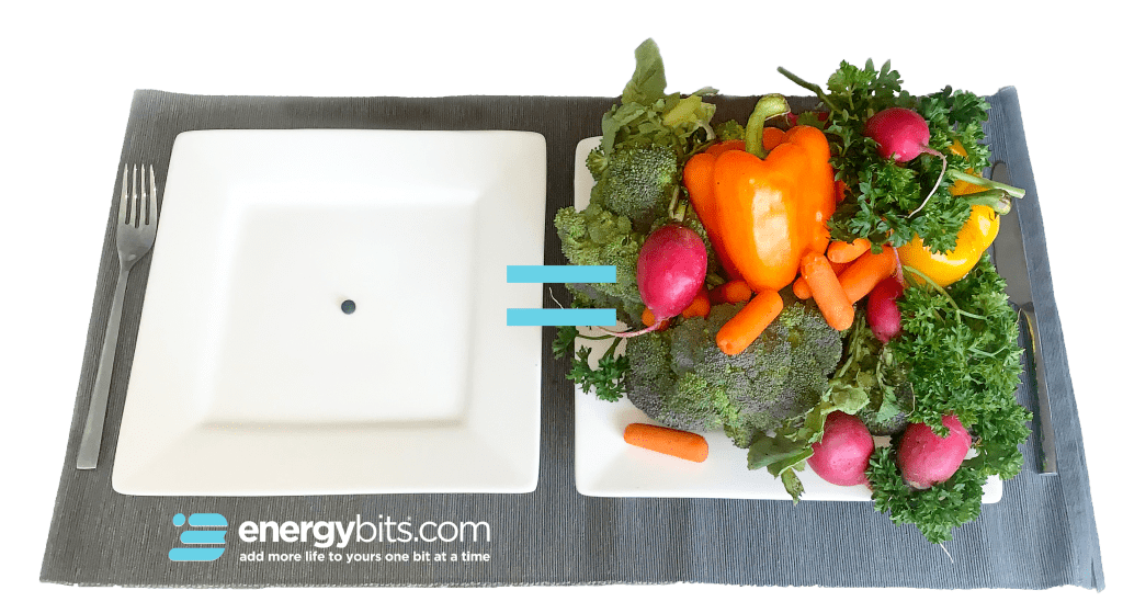 Just one ENERGYbits algae tablet is equal to the nutrients of a plate full of fruits & vegetables!