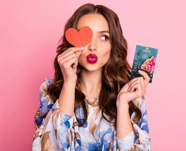 girl holding heart and BEAUTYbits