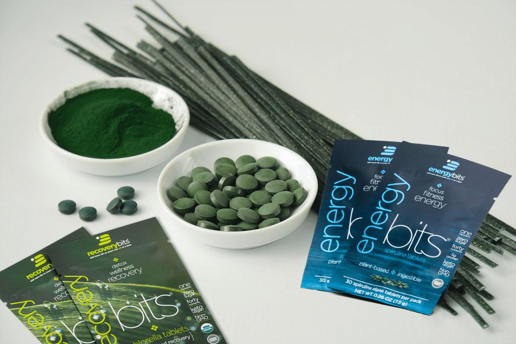 Green spirulina pasta with ENERGYbits