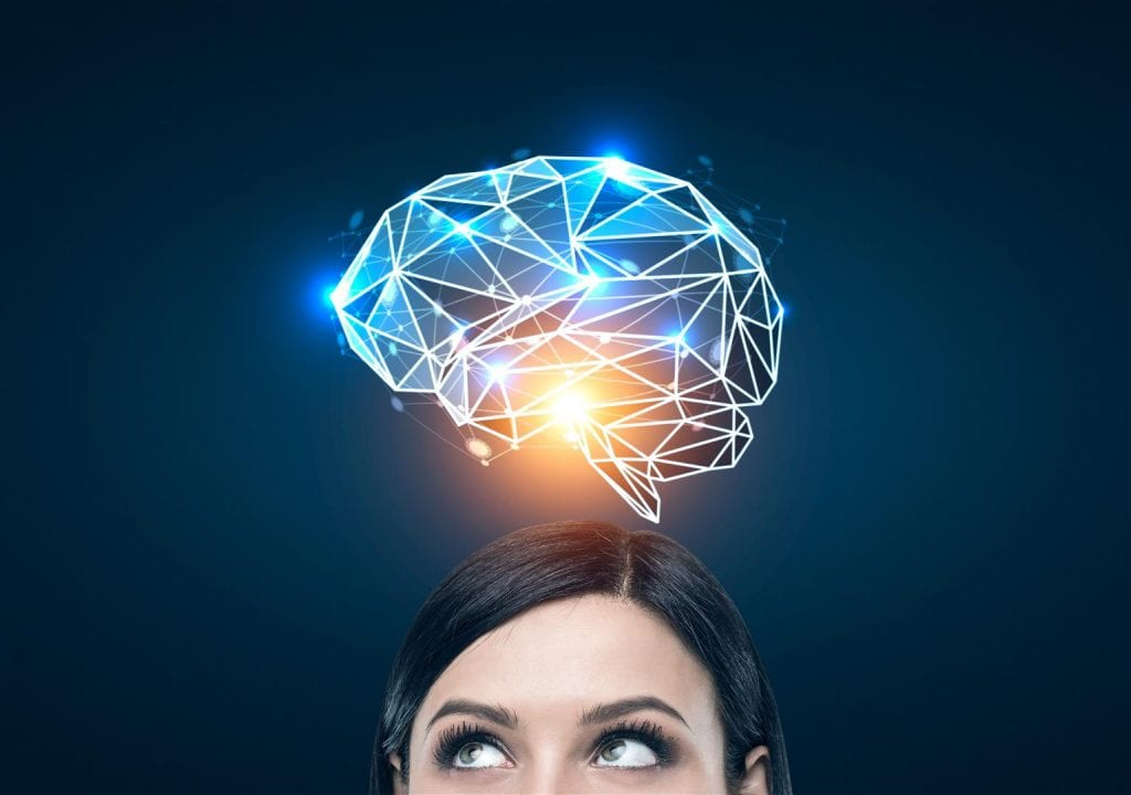 woman and brain