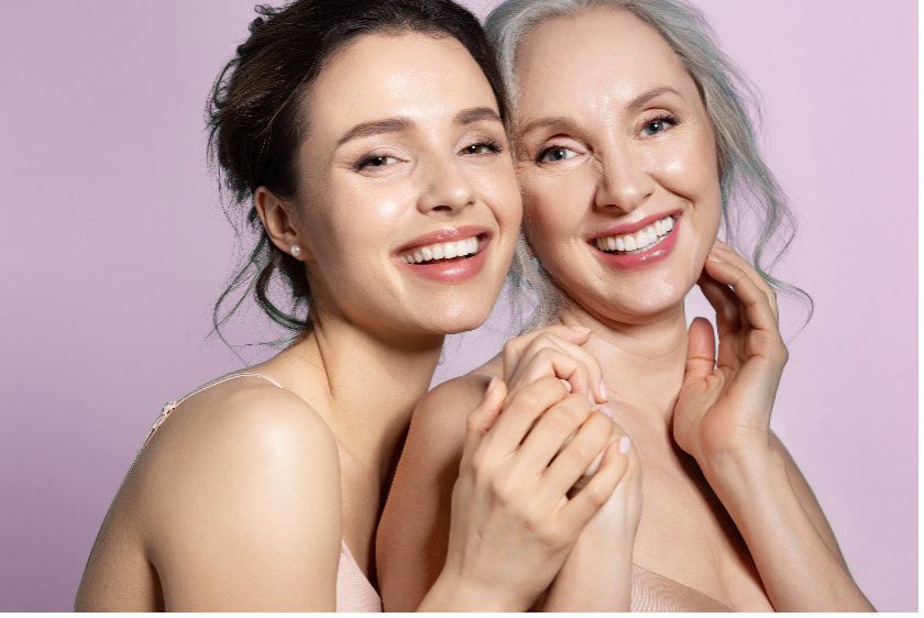 younger woman and older woman