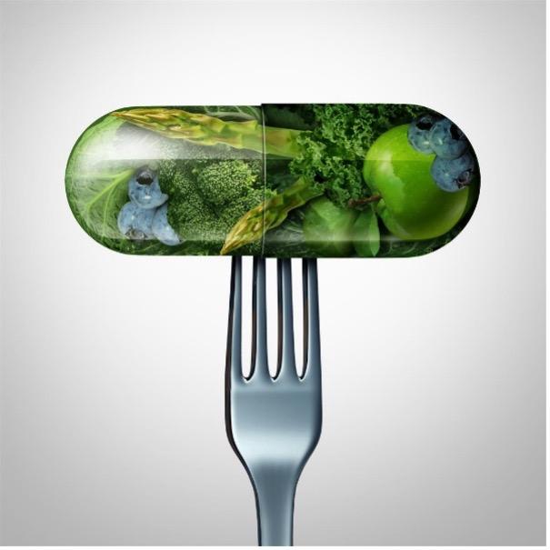 Fork holding algae pill
