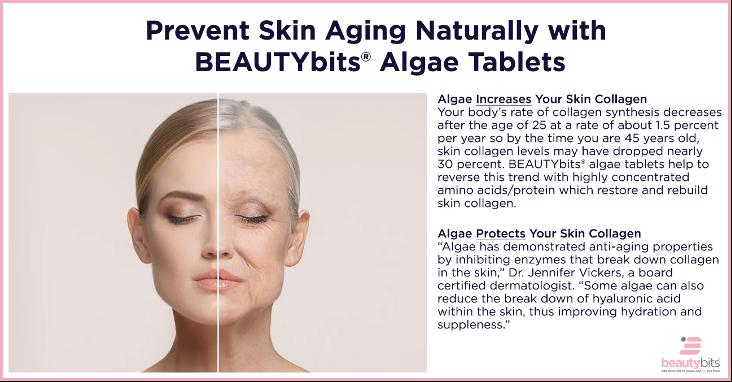 Algae improves skin collagen