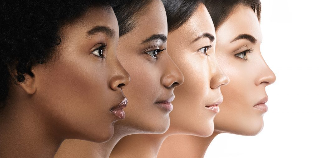 four women of different races