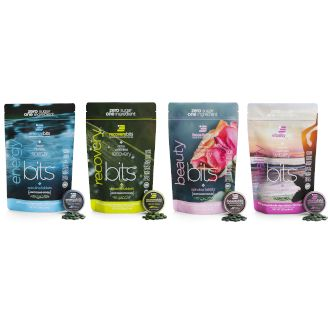 energybits, recoverybits, beautybits, and vitalitybits bags