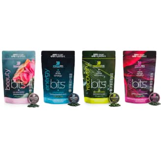 beautybits, energybits, recoverybits, and vitalitybits large bags