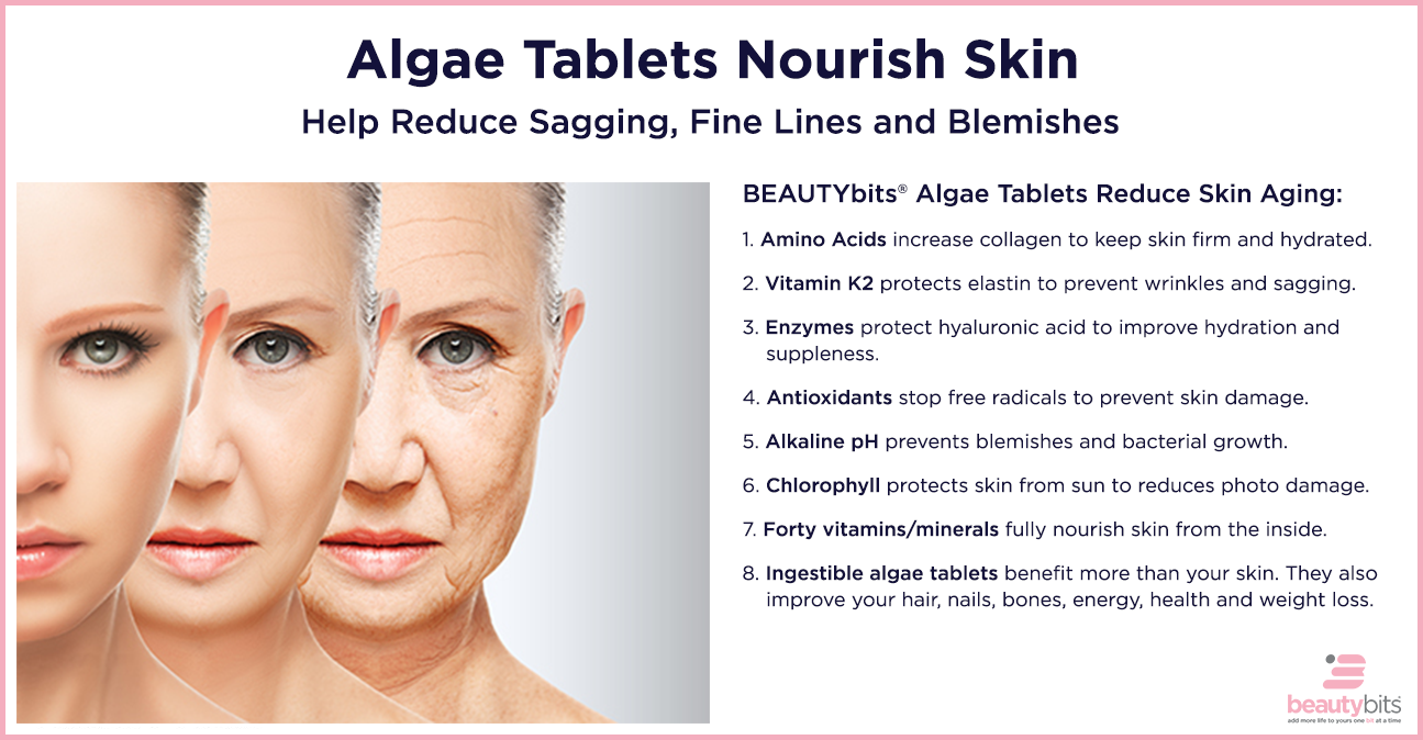 Algae Tablets Nourish Skin