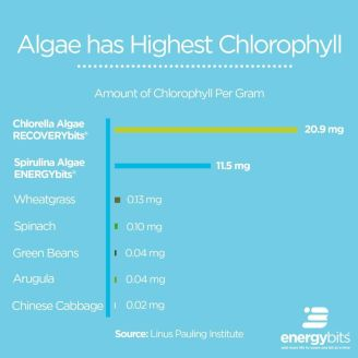 chlorella contains more chlorophyll than wheatgrass, spinach, green beans, arugula, and Chinese cabbage