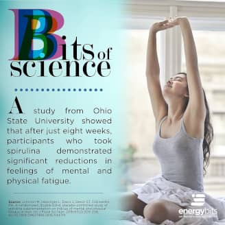A study from Ohio State University showed that after just eight weeks, participants who took spirulina demonstrated significant reductions in feelings of mental and physical fatigue.