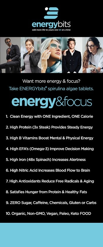 ENERGYbits Energy and Focus Benefits Summary