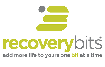 RECOVERYbits Gray Tagline Logo - Top B