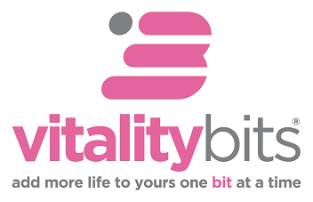 VITALITYbits Gray Tagline Logo - Top B